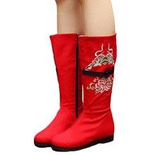 ฤดูหนาวรองเท้าผู้หญิงสบายๆรองเท้าเก่าปักกิ่งดอกไม้เย็บปักถักร้อยบูตbotas mujer zapatos mujer WX6040829