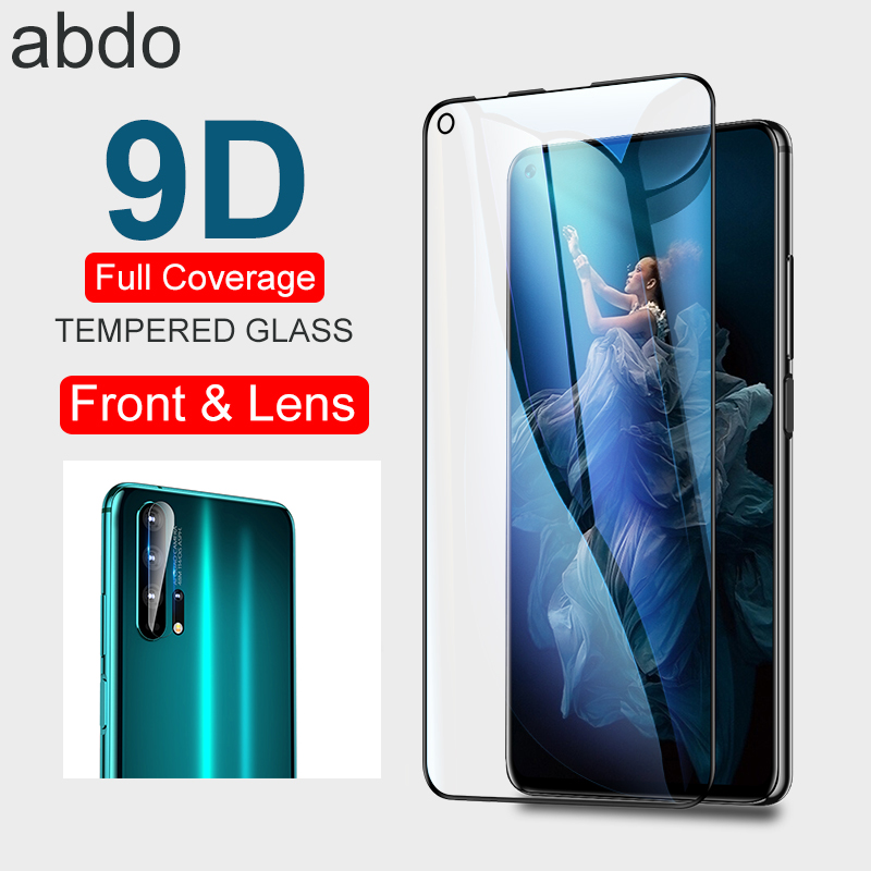 2PCs 9D Tempered Glass For Huawei Honor 20 Pro 20i View 20 10i 10 Lite 8X Max 8S Glass Protective Camera Lens Screen Protector