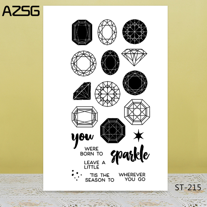 Gemstone pattern Transparent Silicone Clear Stamps/seal for DIY Scrapbooking/Card Making/Photo Album Decoration Supplies