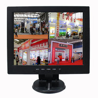 12 inch HD LED LCD computer display Bnc1bnc4 four image segmentation can be connected with four cameras