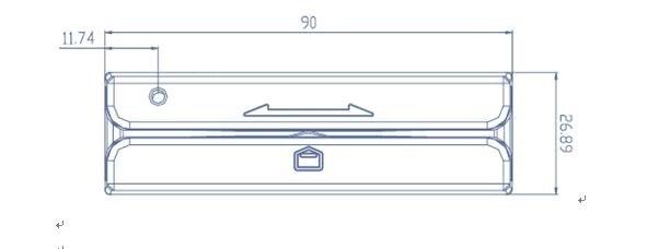 PS2 RS232 TTL usb leitor de cartão magnético Com Faixas 3