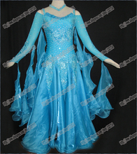 Ballroom Standard Dance Dress,Waltz Competition Women Ballroom Dance Dress Modern Waltz Tango Smooth Ballroom Dress B-231