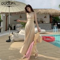 DUOUPA Women Multiway Wrap Convertible Boho Maxi Club Dress Bandage Long Dress Party Bridesmaids Infinity Robe Longue Femme