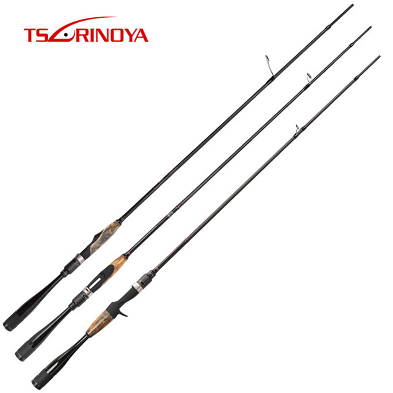 TSURINOYA AGILE 2.01m 1.95m Casting Spinning Fishing Rod Fast Action ML/M Power FUJI Guide Ring and Real Seat 2 Section Lure Rod|Fishing Rods| |  - title=