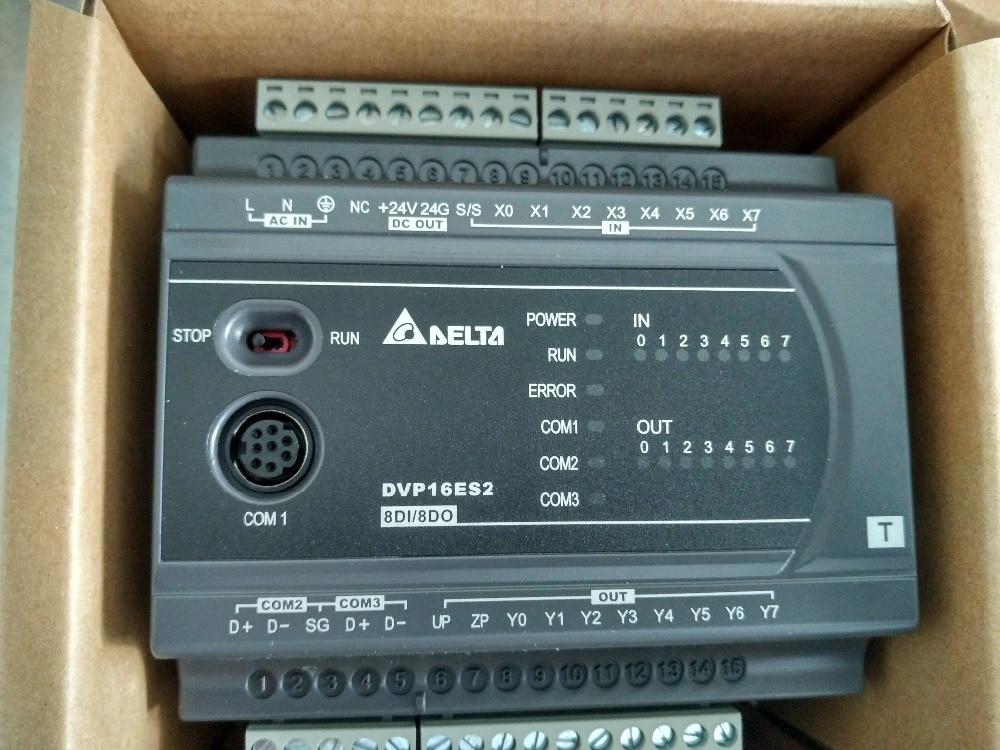 DVP16ES200T Delta ES2 Series Standard PLC DI 8 DO 8 Transistor 100-240VAC new in box fbs 16xyt fatek plc 24vdc 8 di 8 do transistor module new in box