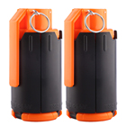 2pcs Toys Tactical Plastic Modified Crystal Water Beads Bomb Bullet Black+Orange Outdoor Free Shipping