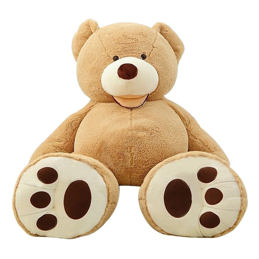 200 CM énorme taille USA géant ours peau ours en peluche manteau meilleure qualité prix de gros vente jouets meilleurs cadeaux pour les filles