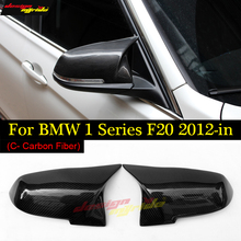 M-style Carbon Fiber golss black F20 mirror covers for BMW 1 Serie 116d 118i 120i 125i 128i 135i look Replacement 2012-2018