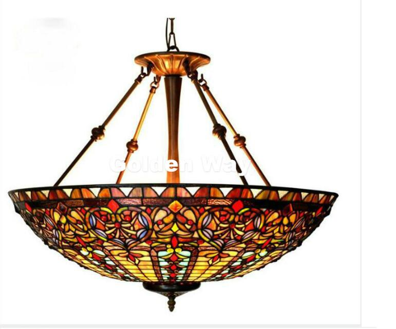 Free Shipping Restaurant Tiffany Country Light Classic 22 Inches Pendant Lighting Living Room Stained Glass Color Pendant Lamp tiffany ems free shipping tiffany pendant light fashion romantic lighting rustic lamps restaurant lamp df68