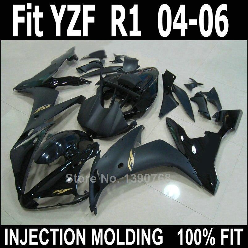 Top selling fairing kit for Yamaha injection molding YZF R1 04 05 06 matte black fairings