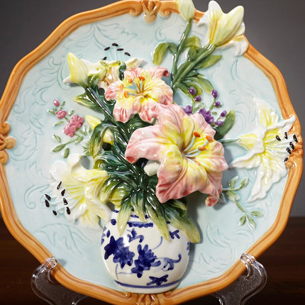 Flower Porcelain Decorative Wall Plates For Hanging