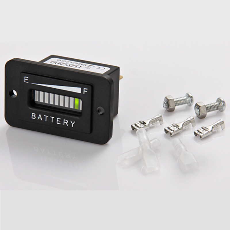 Lead Acid Storage Battery 12/24V LED Battery Level Indicator for Golf Kart Truck Electric Vehicle Car truck, RL-BI003
