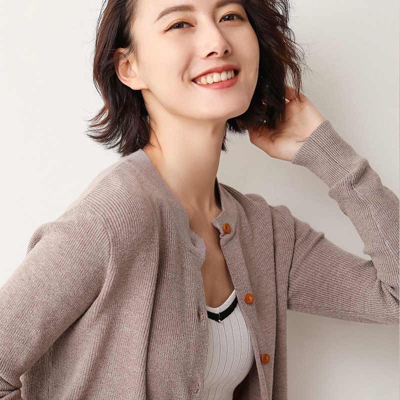 19 봄 가을 카디건 여성 스웨터 니트 작은 코트 buttoned 외부 자켓 여성 패션