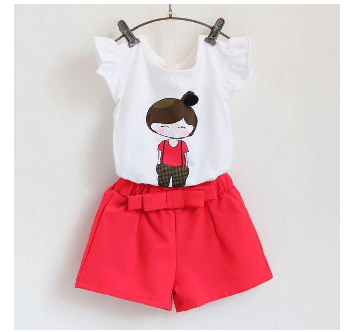 Boys Clothes Sale Special Offer Baby  2016 Summer Female Child Girl T-shirt Shorts Twinset 2 Colours And Ready In Stock girl child betrothal and human capital formation in ghana saboba