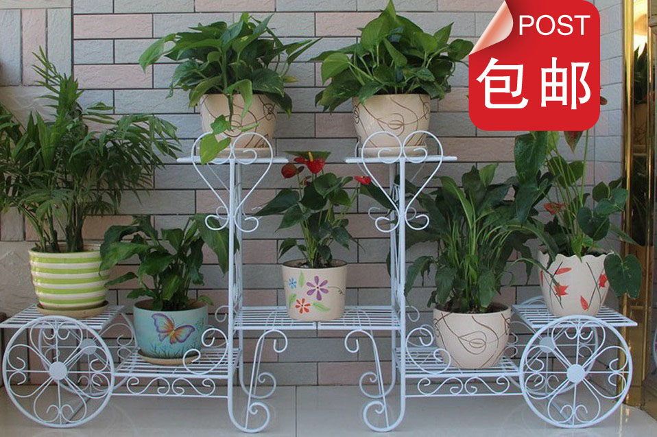 AliExpress & US $90.5 5% OFF|flower stands balcony vase hoolder French flowers stand bicycle stand pot holder iron pergolas-in Flower Pots \u0026 Planters from Home \u0026 ...
