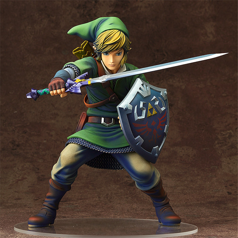 Anime The Legend of Zelda Link PVC Action Figures Collectible Model Toys 20cm KT3654 cosplay lol the might of demacia garen 21cm 8 3 pvc action figures model garage kit toys