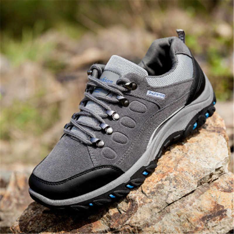 KipeRann outdoor الرياضة التكتيكية التخييم أحذية الرجال حذاء للسير مسافات طويلة تنفس ضوء أحذية مقاومة للانزلاق حذاء للسير مسافات طويلة الصيد الأحذية