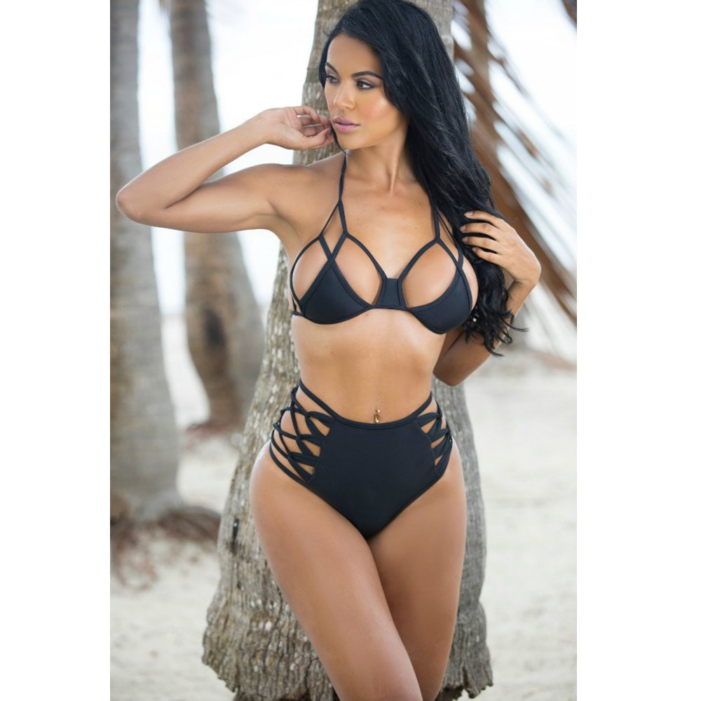 2016 venus vacation mature women swimwear black swimming suits hot