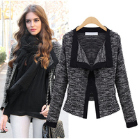 2015 Spring Autumn Womens Jacket Quality Linen Ladies Knitted Cardigans Sweater