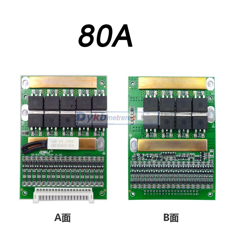 Image 3 - DYKB 6S 17S 50A 80A 120A w/Balance BMS LiFePO4 Li ion lithium battery protection Board 24V 36V 48V 60V 7S 8S 10S 12S 13S 14S 16SBattery Accessories   - AliExpress