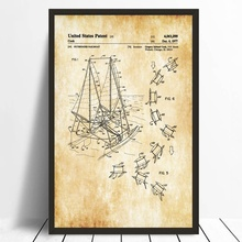 Buy blueprint art prints and get free shipping on aliexpress sailboat patent print sailboat decor boat blueprint poster canvas prints wall art decor home decorative classic malvernweather Gallery