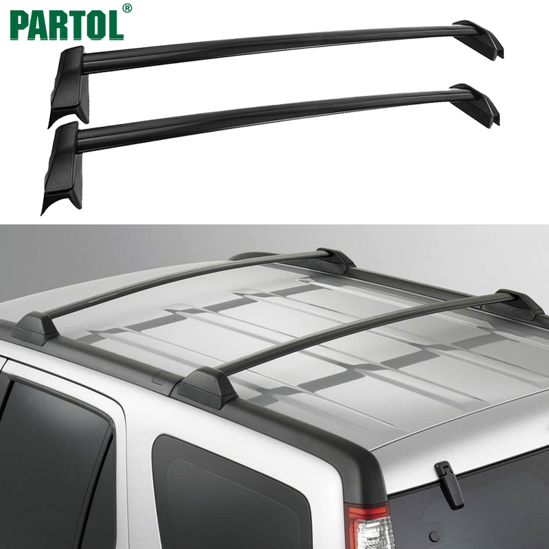 Partol 1 Pair Black Side Rails Car Roof Rack Cross Bars Crossbars for Honda CRV 2002