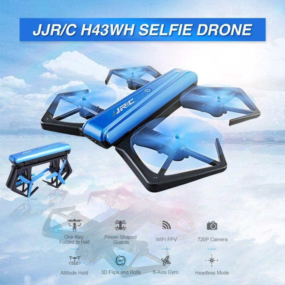 JJR/C H43WH WIFI FPV 720 P HD caméra Dron retardateur quadrirotor pliable g-capteur Mini RC Selfie Drone quadrirotor