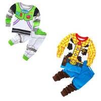 2019 bambini pigiama di cotone Toy Story woody Basso Lightyear set di indumenti da notte del bambino delle ragazze dei ragazzi Del Fumetto pigiama da notte vestiti