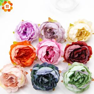 10PCS Artificial Peony Flowers Head Multi Colors For Home Wedding Party Decoration Scrapbooking Wreath Fake Flowers