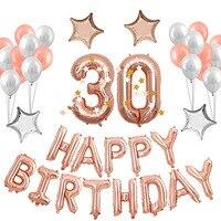16 18 21 30st Różowe Złoto Banner i Lateksowe balony Balon 40 inch z Okazji Urodzin dla Dekoracje Świąteczne Dostawy