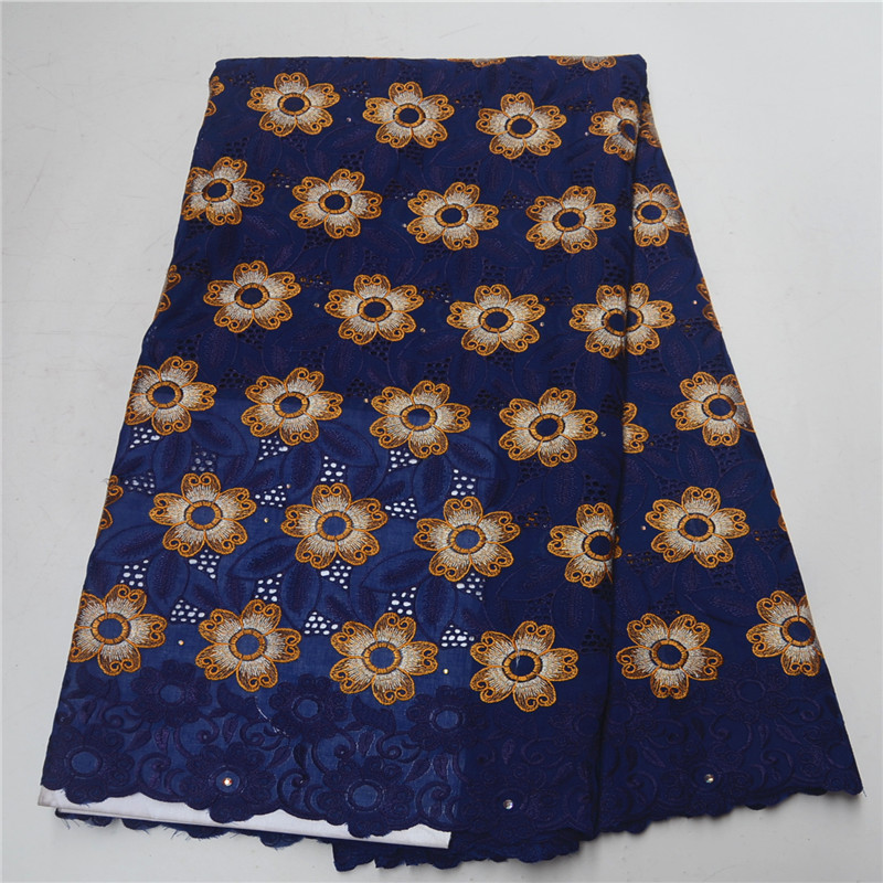 New Fashion cotton Lace Embroidery Fabric Swiss Voile Lace In Switzerland African Lace Fabric With stones Best Selling