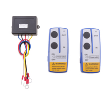 Universal Car Automotive Remote Control Switch Wireless Winch Control Set High Performance Interruptor de control remoto electric winch wireless remote control system