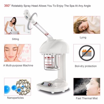 Advanced Ionic Spraying Machine Facial Thermal Steamer Salon Home Spa Ozone Steaming Face Skin Lifting Whiten Beauty Skin Care