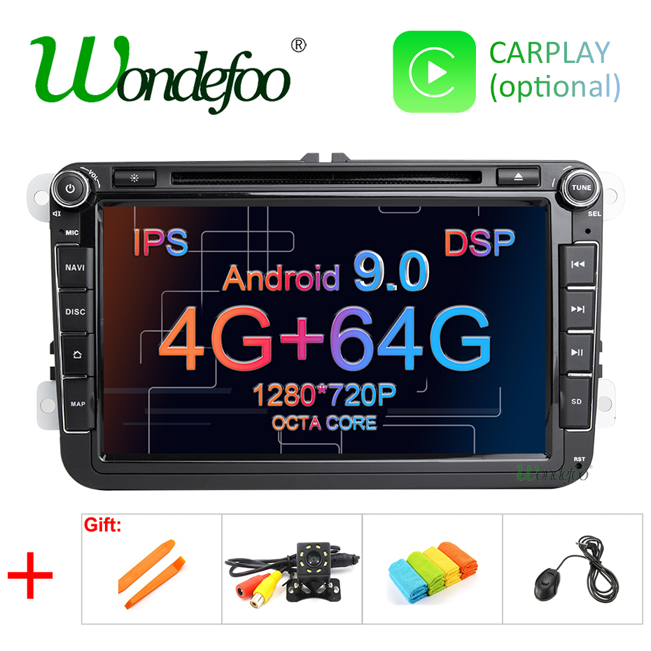 IPS DSP Android 9 0 64G 2 din multimedia PLAYER For Rapid Yeti VW passat b6