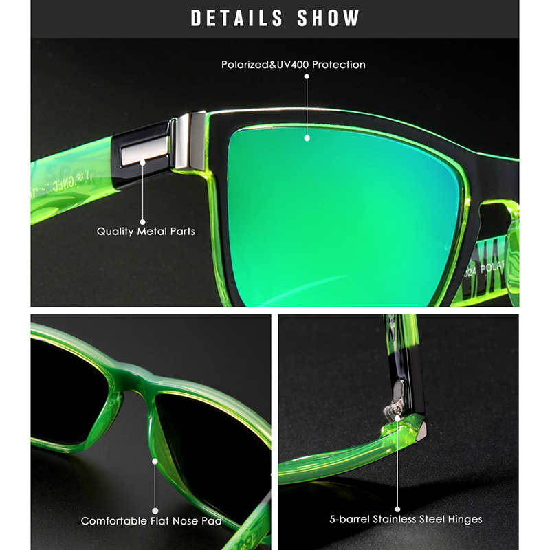 Image 3 - New Polarized Sunglasses for Men KDEAM Driving Mens Sunglasses Square Avantgarde Sun Glasses for Women Assembles 5 Barrel Hinge-in Men's Sunglasses from Apparel Accessories