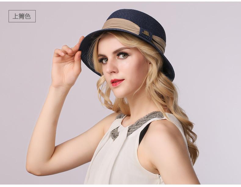 94f36fcb174a0 2016 Fashion Lady Straw Sun Hat Women Ladies Summer Beach Panama ...