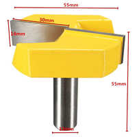"""1/2"""" Shank 2-1/4"""" Diameter Bottom Cleaning Router Bit Woodworking Router Bits Milling Cutter for MDF Solid Wood"""