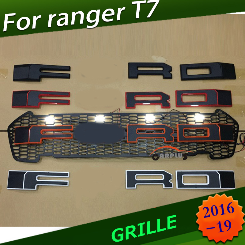 Racing grills grille black grill trims for Ranger wildtrak T7 T8 txl pickup 2015-18 FRONT MASK COVERRacing grills grille black grill trims for Ranger wildtrak T7 T8 txl pickup 2015-18 FRONT MASK COVER