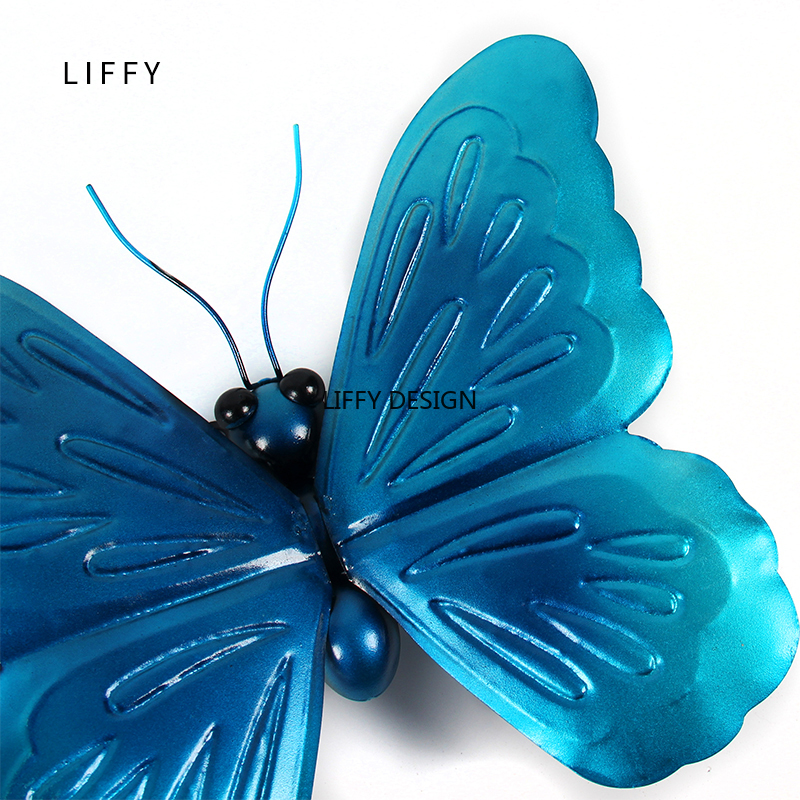 Image 5 - Liffy Miniature Metal  Butterfly Wall Decor Outdoor  for Garden Decoration Animals Jardin Ornaments Yard Decoraitions Statues-in Garden Statues & Sculptures from Home & Garden