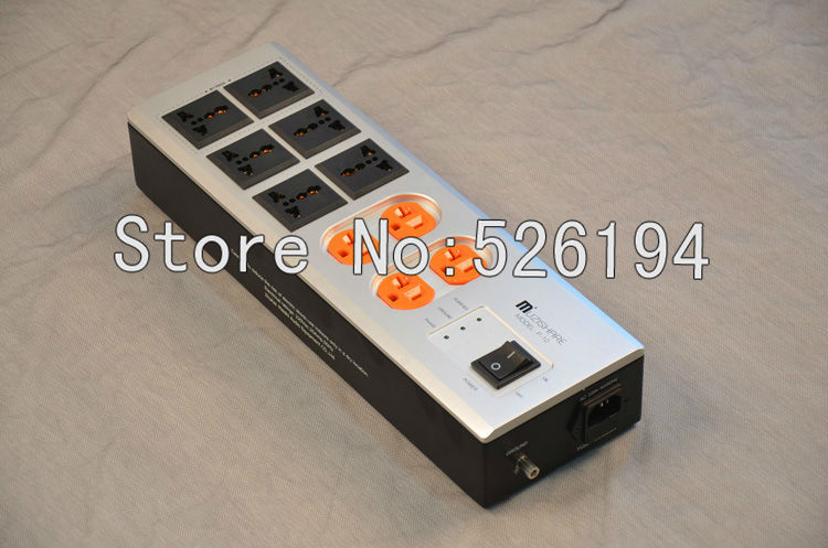Free shipping MEISHI USA 10 outlet AC Power distributor pure red copper audio power distributor free shipping one pieces black full aluminum us ac power distributor 6 outlet power supply box chassis