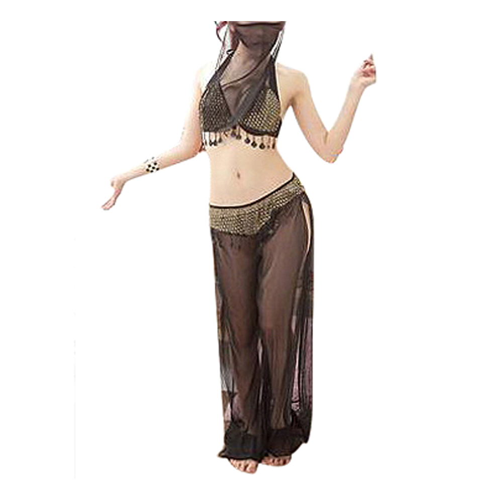 Fashion 4pcs set women s wear dance latin dance clothing arab belly dance costumes withe veils high quality