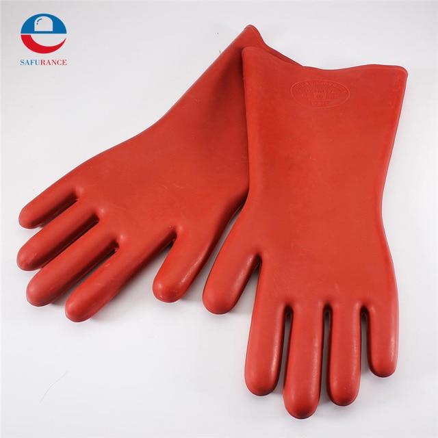 НОВЫЙ 1 Пара Изоляционные Перчатки Резиновые Безопасности Электрические Защитные Безопасности Безопасно Работать Перчатки для Рук Протектор