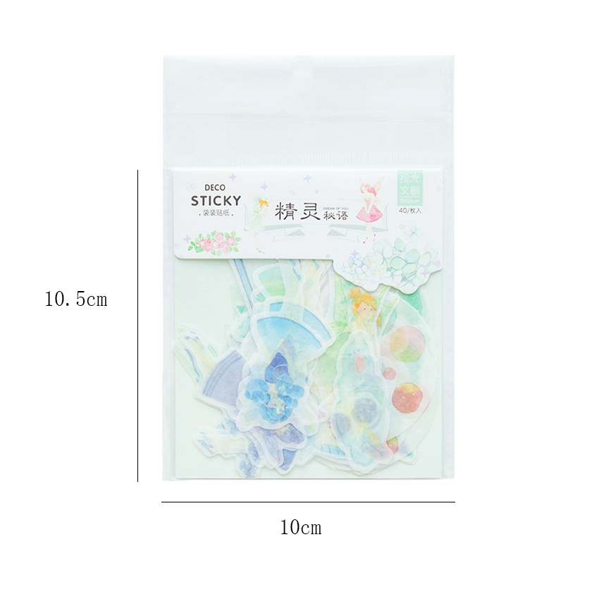 Купить с кэшбэком 40pcs/lot Lovely Romantic Dream Series Label Sealing Stickers Diary Adhesive Scrapbooking Decorative DIY Stickers Stationery