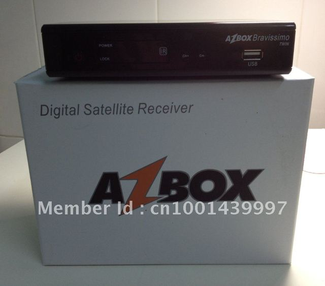 2012 Best Selling digital satellite receiver Azbox bravissimo twin tuner IKS+SKS FREE SHIPPING!