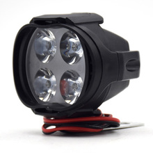 Мотоциклетный головной светильник для скутера, противотуманный Точечный светильник светодиодный для мотовездехода, мотовездехода 12 В, рабочий Точечный светильник, налобный фонарь наивысшего качества
