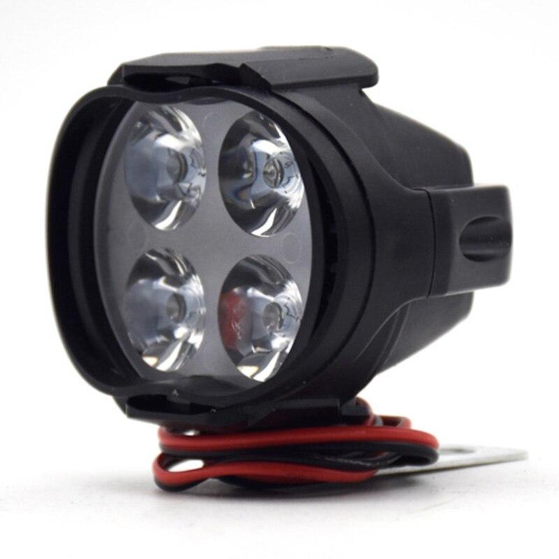 Motorcycle Headlight Scooter Fog Spotlight LED Motorbike ATV 12V Moto Working Spot Light Head Lamp Top Quality
