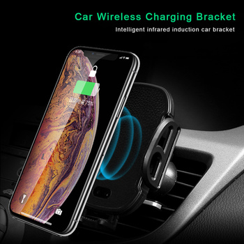 Car Wireless Charger Infrared Sensor For Apple iPhone XS Max XR X 8 Plus Samsung Galaxy Note 9 S9 S8 Fast QI Car Charger