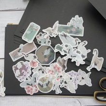 38pcs Red-crowned crane Style Paper Sticker Scrapbooking DIY Gift Packing Label Decoration Tag Party