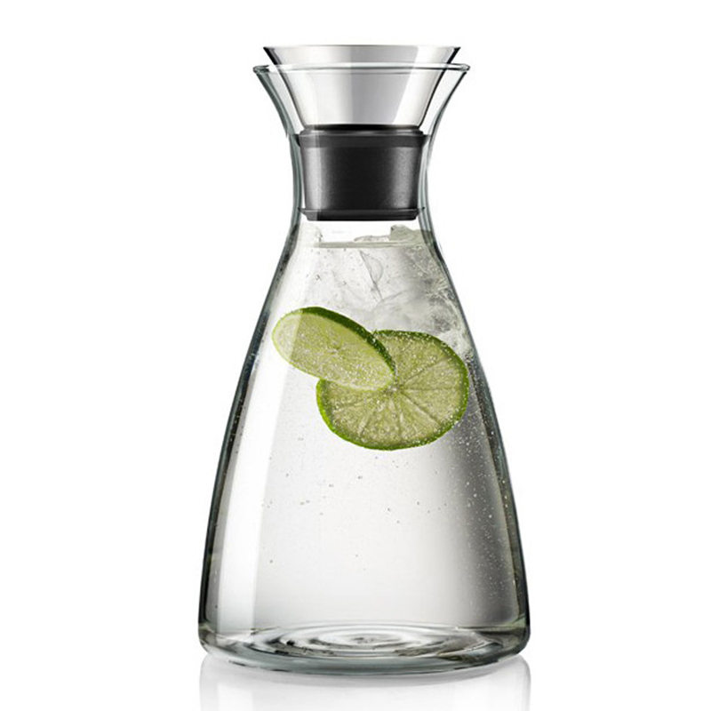vidrio sin goteo jarra con tapa fliptop de acero inoxidable vidrio jarra de