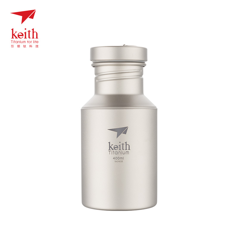 Keith New Titanium Bottle Titanium Water Bottle Outdoor Camping Sport Bike Bottle 400ml Ultralight 79g Ti3030 400ml portable bpa free wide mouth cool water bottle